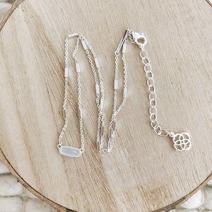 Kendra Scott Miya Silver Necklace Sky Blue